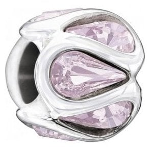 Silver bead - Embrace - Light Amethyst