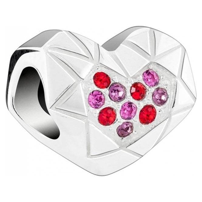 Chamilia Silver bead - Faceted heart