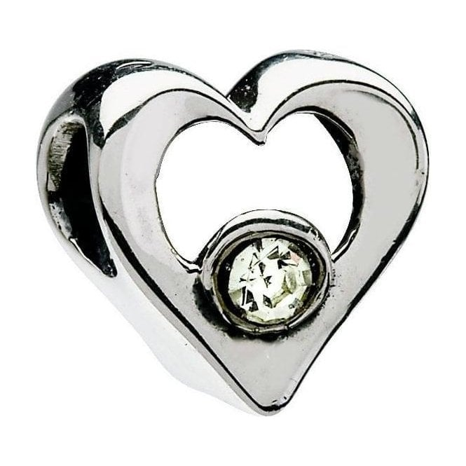 Chamilia Silver bead - Jewelled Heart