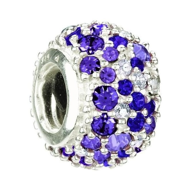 Chamilia Silver bead - Jewelled Kaleidoscope purple Swarovski