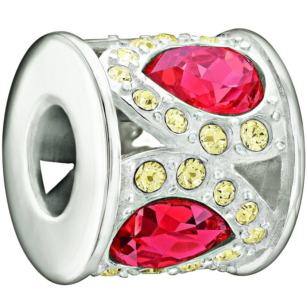 4d0b8c2cf Chamilia Chamilia Silver bead - Royal petals - red and yellow ...