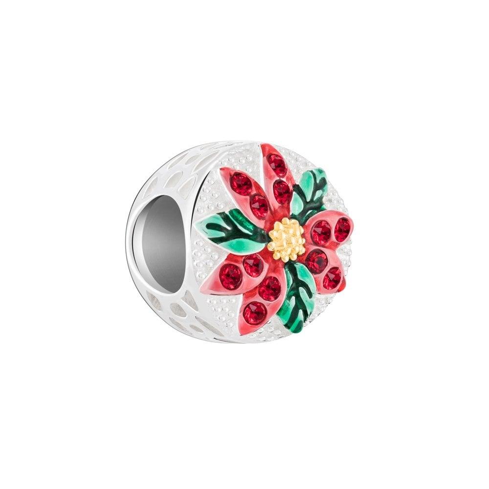 5a46c9d70 Chamilia Chamilia Silver bead - Sparkling Poinsettia- red & green ...
