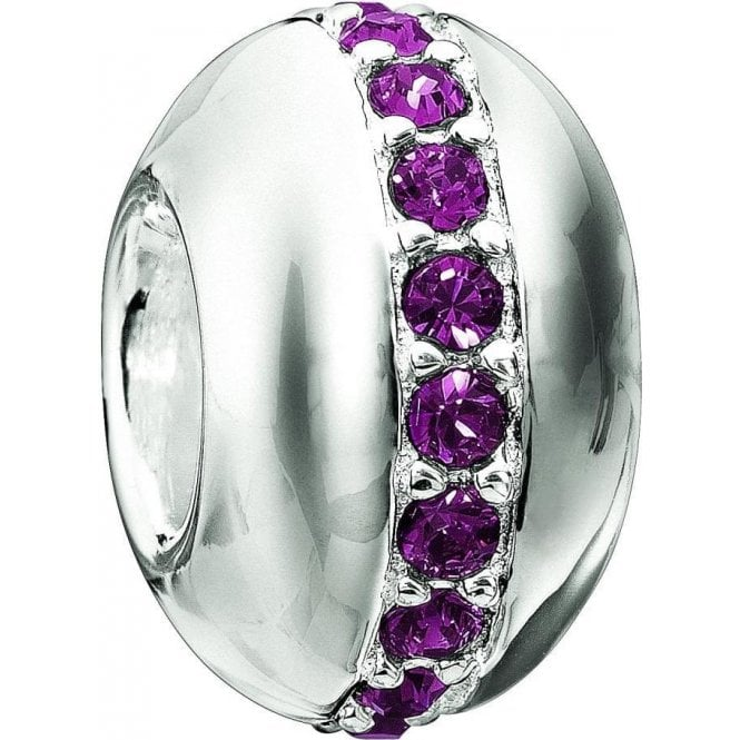 Chamilia Silver bead - Swarovski collection - Wink - Amethyst