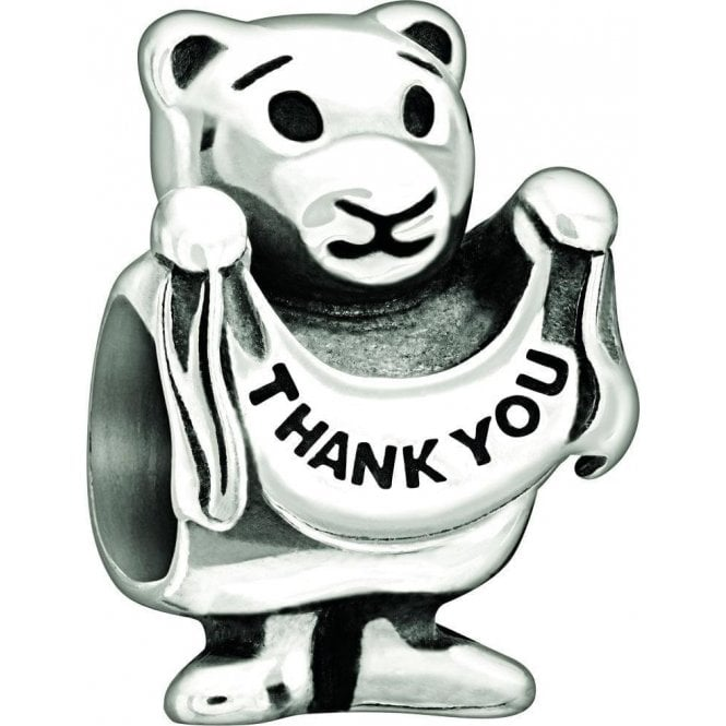 Chamilia Silver bead - Thankyou Beary much