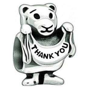 Silver bead - Thankyou Beary much