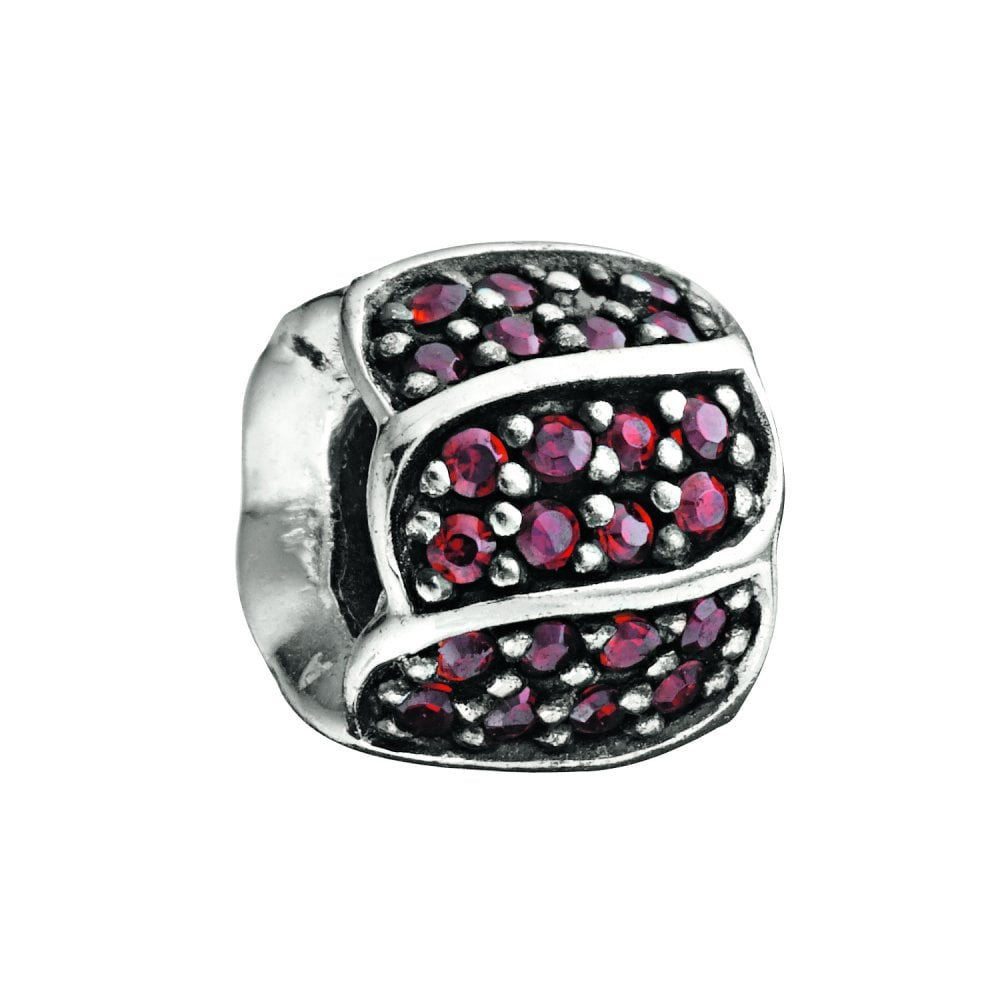 703575380 Chamilia Chamilia Silver bead with Red CZ - Jewelled Petals - Charms ...