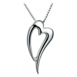Silver Lingering pendant and chain
