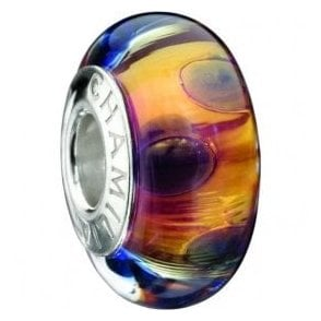 Silver Murano Bead - 24k gold collection - Majestic Gold