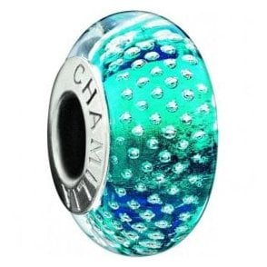Silver Murano bead - Mystic collection - Turquoise