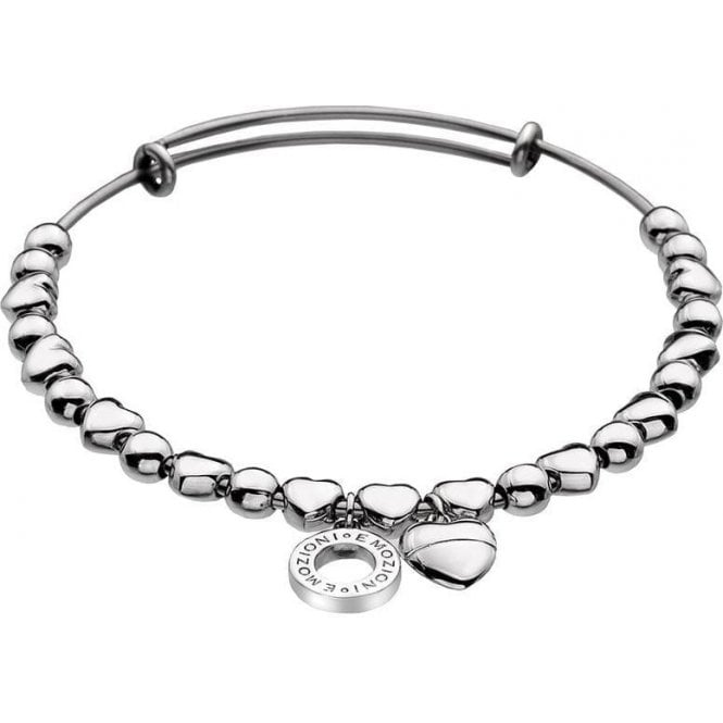 Hot Diamonds Emozioni Silver Plated Small Heart Bangle