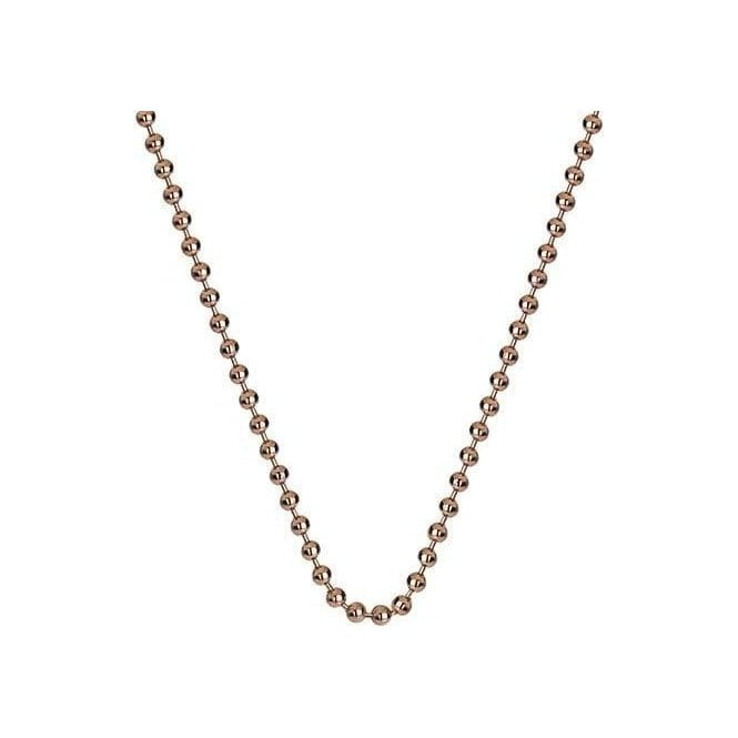 "Hot Diamonds Emozioni Silver Rose Gold Plated 18"" Bead Chain"