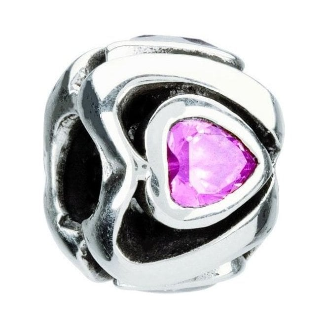 Chamilia Silver with pink stone bead - Mother's Heart