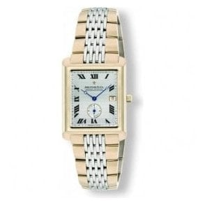 Two-Tone Gents 1974 Rectangular Bracelet Watch